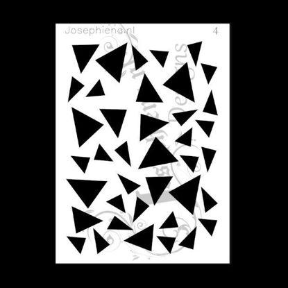 Afbeeldingen van Driehoeken - stencil