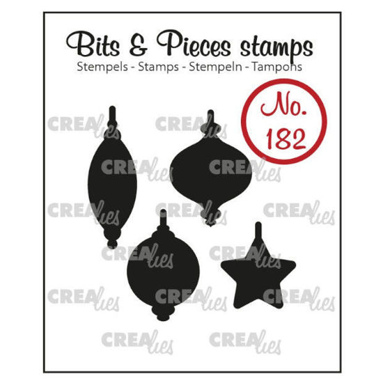 Picture of 4x Christmas baubles (closed) - Bits & Pieces