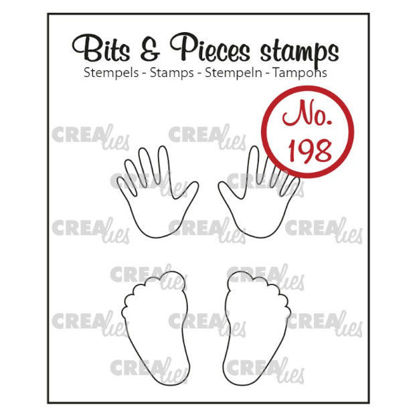 Picture of Baby hands + feet (outline) - Bits & Pieces