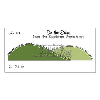 Picture of Snow / Hill edge with backstitch line - On the Edge dies