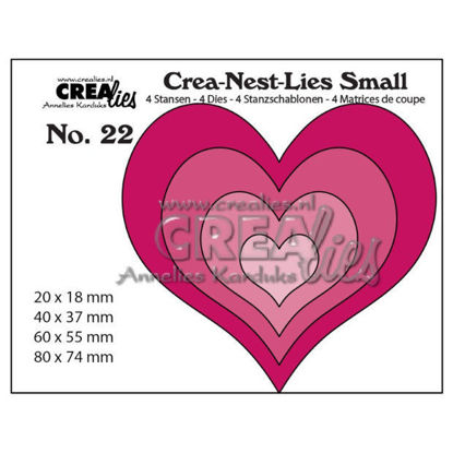 Afbeeldingen van 4x Harten - Crea-Nest-Lies Small stansen