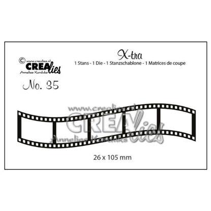 Afbeeldingen van Gebogen filmstrip, klein - X-tra stansen