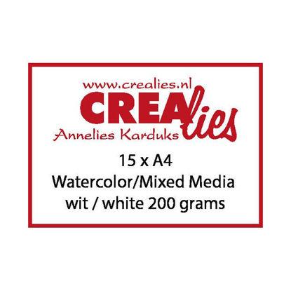 Afbeeldingen van Watercolor / Mixed Media papier, wit 200 grams