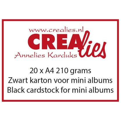 Afbeeldingen van Zwart karton, 210 grams, voor o.a. mini albums