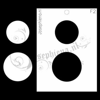 Cirkels- figuur-stencil van Josephiena`s Design