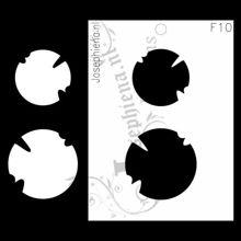 Versleten Cirkels - figuur-stencil van Josephiena`s Design