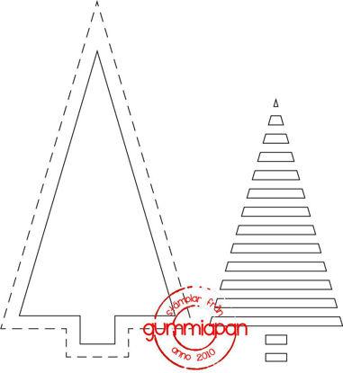 Afbeeldingen van Graphic Christmas Tree - stansen (normaal €8,00)