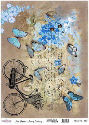 bicycle / butterflies - Cadence ricepaper