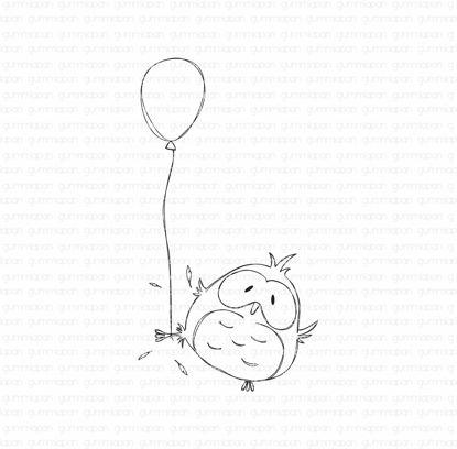 Fukuro with a balloon