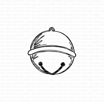 Picture of Doodled Small Bell - stamp - Gummiapan