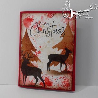 Card: Silhouette Blue Deer