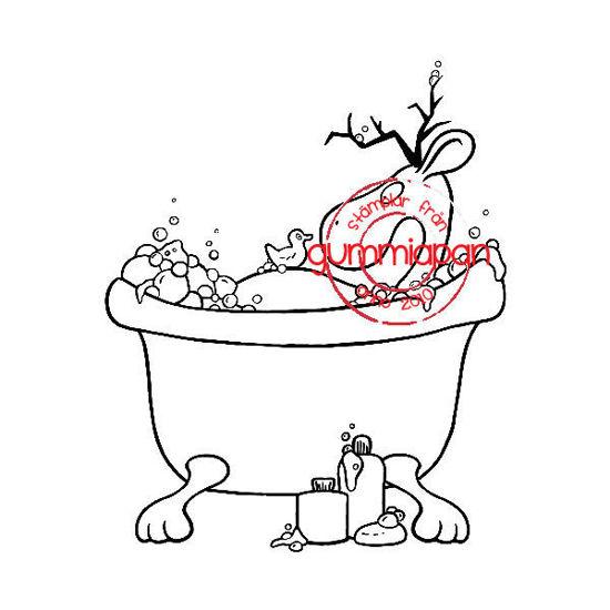 Afbeeldingen van Badkuip hert -stempel met stans - Gummiapan - (normaal €13,50)