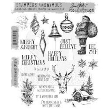 Holiday Drawings - Tim Holtz Cling Stamps