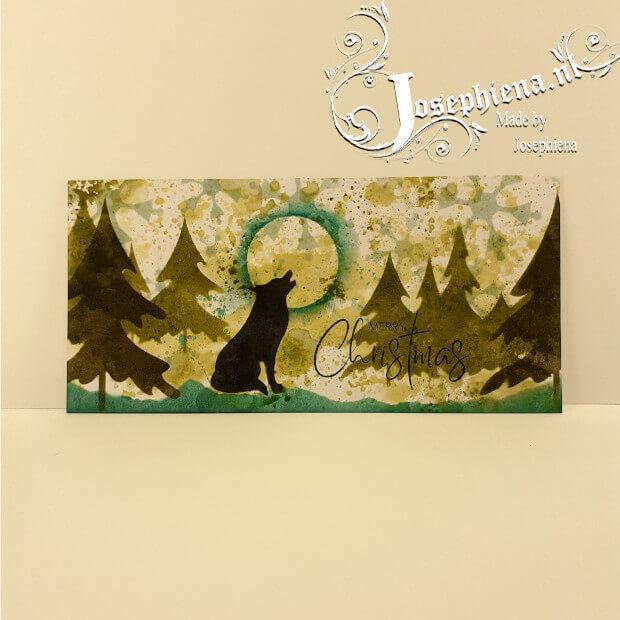 Voorbeeld met Dennebomen stencil van Josephiena's Design