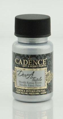 Cadence Dora metallic textiel verf Zilver