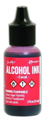 Tim Holtz Alcohol Ink Coral