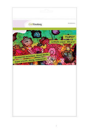 CraftEmotions Synthetisch papier - Yupo wit 10 vl A4 - FEB 200 gr