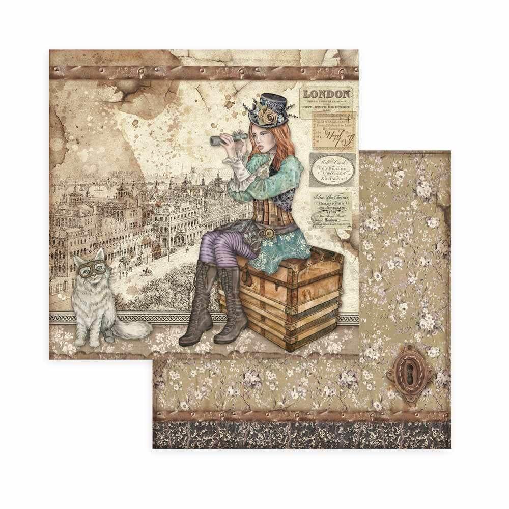Stamperia Lady Vagabond 8x8 Inch Paper Pack