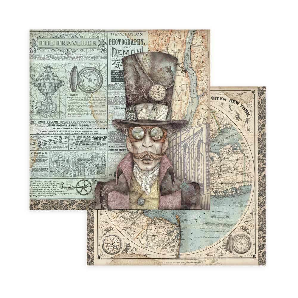 Stamperia Sir Vagabond 8x8 Inch Paper Pack