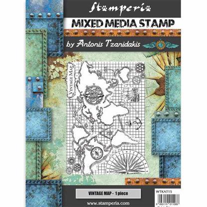 Stamperia Mixed Media Stamp Sir Vagabond Vintage Map