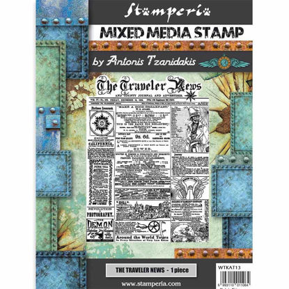 Stamperia Mixed Media Stamp Sir Vagabond The Traveler News