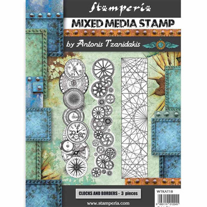 Stamperia Mixed Media Stamp Sir Vagabond Steampunk Borders