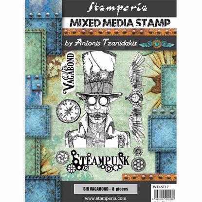 Stamperia Mixed Media Stamp Sir Vagabond Steampunk