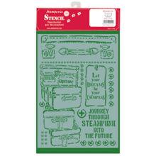 Stamperia Stencil A4 Lady Vagabond Luggage