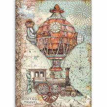 Stamperia Rice Paper A4 Sir Vagabond Vintage Travel