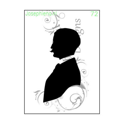 Man silhouet - Stencil van Josephiena`s