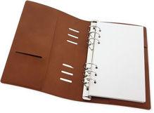 Cognac bruin PU leather