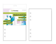 CraftEmotions WaterColorCard - bril. Ringband wit 10 vl 14,5x20,5cm - 350 gr - 6 Ring A5
