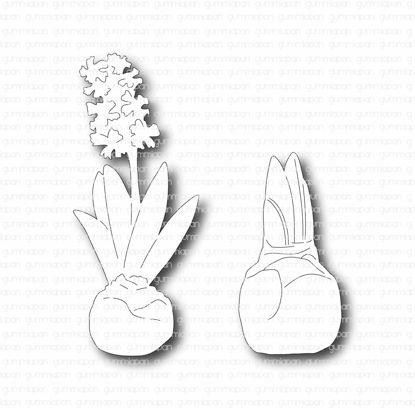 Kleine hyacinten - stansen - Gummiapan