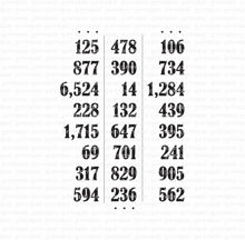 Number table
