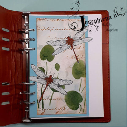 Art Journal: Libelle 's gemaakt door Josephiena