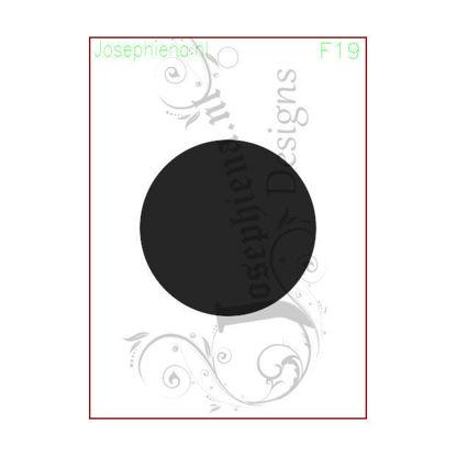 Circle 2.5 inch - figure stencil A6 of Josephiena's Design