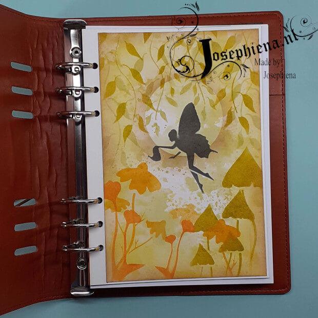Voorbeeld gemaakt met Bloemetje 2 - Stencil van Josephiena`s Design