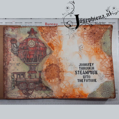 Art journal: Steampunk Journey gemaakt door Josephiena