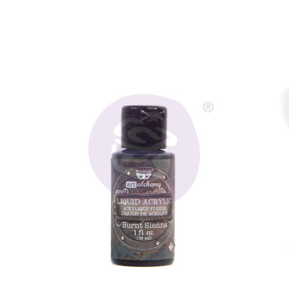 Finnabair Art Alchemy Liquid Acrylic Paint Burnt Sienna, 30 ml