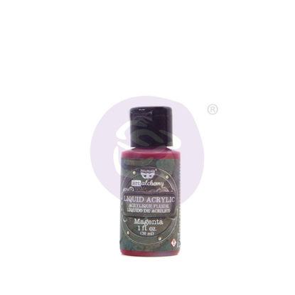 Finnabair Art Alchemy Liquid Acrylic Paint Magenta, 30 ml