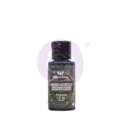 Finnabair Art Alchemy Liquid Acrylic Paint Purple, 30 ml