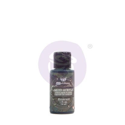 Finnabair Art Alchemy Liquid Acrylic Paint Emerald, 30 ml