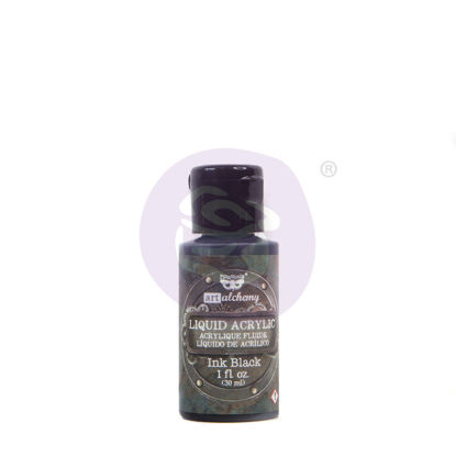Finnabair Art Alchemy Liquid Acrylic Paint Black, 30 ml