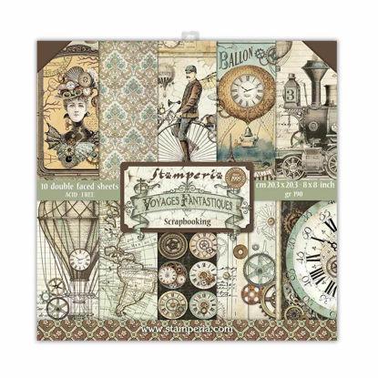 Stamperia Voyages Fantastiques 8x8 Inch Paper Pack