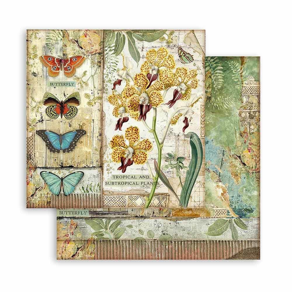 Stamperia Amazonia 8x8 Inch Paper Pack