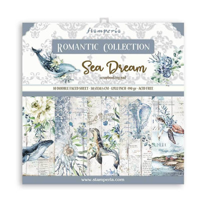 Stamperia Romantic Sea Dream 12x12 Inch Paper Pack