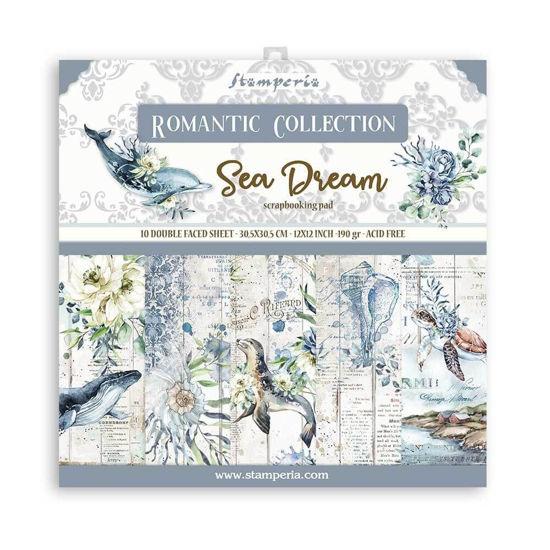Stamperia Romantic Sea Dream 12x12 Inch Paper Pack