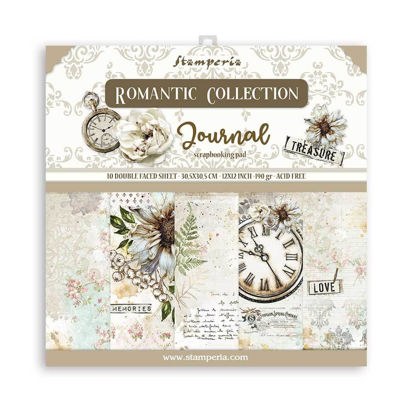Stamperia Romantic Journal 12x12 Inch Paper Pack