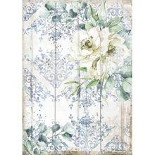 Stamperia Rice Paper A4 Romantic Sea Dream White Flower