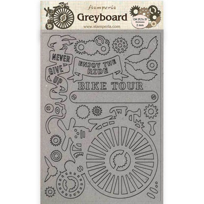 Stamperia Greyboard A4 Voyages Fantastiques Bicycle